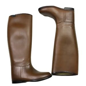 Aigle Brown Knee-Height Rainboots